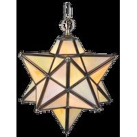 """12"""" Moravian Star Beige Iridescent Pendant"""