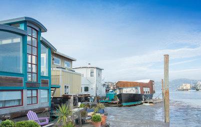 USA Houzz: Come Aboard a Renovated Houseboat Near San Francisco