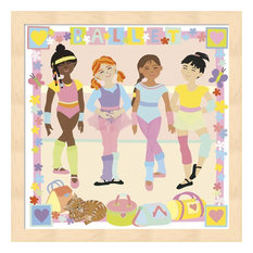 "Ballet by Cheryl Piperberg Framed Art, 13.25""x13.25"""