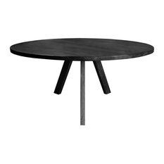"Olsen Round Dining Table, 72"" Top, Gray"
