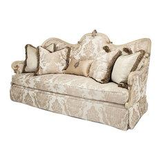 Michael Amini   AICO Platine De Royale Wood Sofa   Sofas