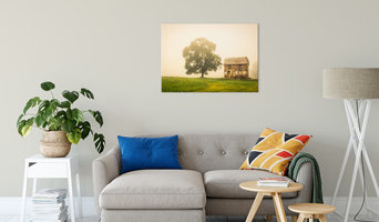 Abandoned House on Adams Dam Rd Displayed Landscape Photography Canvas Wrap