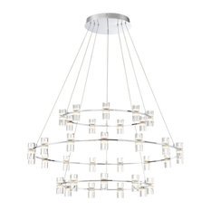 Netto LED Large 3-Tier Ring Chandelier