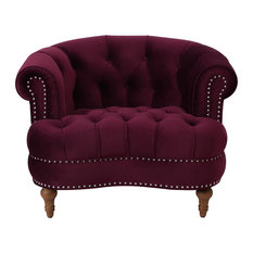 Burgundy Armchairs And Accent Chairs Houzz