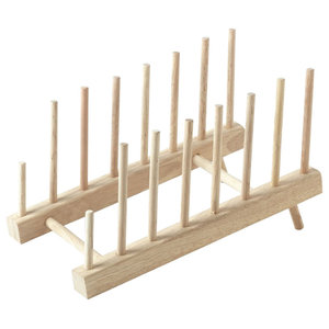 Stow Green Wooden Plate Holder Tilting Display Rack