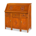rosewood longevity design secretaire with stool natural