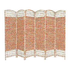 6 -Panel Recycled Magazine Room Divider