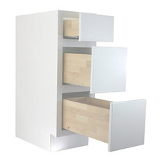 """Cabinet Mania - Cabinet Mania White Shaker Kitchen Drawer Base Cabinet 12""""x34.5"""" - Kitchen Cabinetry"""