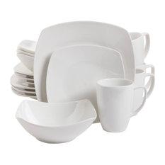 Gibson - Zen Buffetware 16-Piece Square Dinnerware Set - Dinnerware Sets  sc 1 st  Houzz & 50 Most Popular Contemporary Dinnerware Sets for 2018 | Houzz