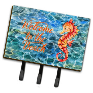 Surf Boards On The Water Leash Key Holder Beach Style Wall Hooks By The Store