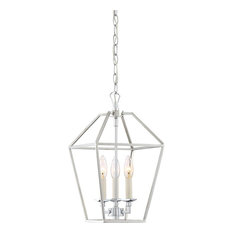 Aviary Foyer Piece, 3-Light Foyer Polished Nickel