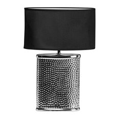 Regents Park Hammered Chrome Table Lamp