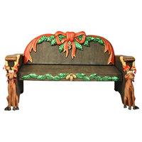 Polyresin Santa'S Bench