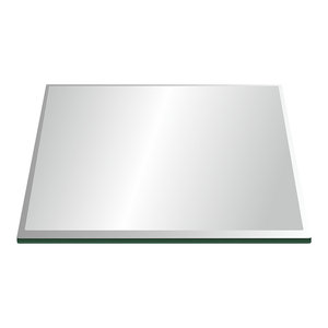 18 X 36 Rectangle Clear Glass Table Top 1//2 Thick with Flat Polished Edge and Touch Corners