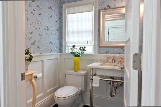 Transitional Powder Room Westfield Cape- Taken to New Heights