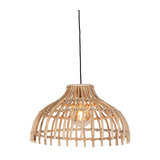 Rural hanging lamp natural bamboo - Cane Half