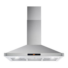 """Cosmo Ducted Wall Mount Range Hood in Stainless Steel, Permanent Filters, 36"""""""