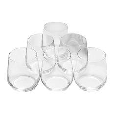 10 Strawberry Street Stemless Wine Glasses, Set of 12