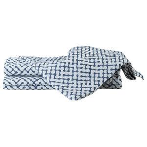 Morley Bedspread, Navy, Super King 270x270 cm