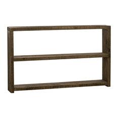 Mediterranean Wooden Console Table, Dark Wood