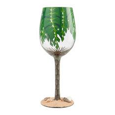 """""""Palm Tree"""" Wine Glass by Lolita"""