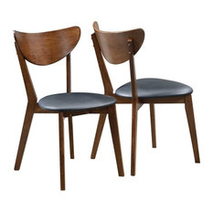 dining room chairs mid century modern. coasterfine furniture - malone mid-century modern dining side chair, set of 2 room chairs mid century m