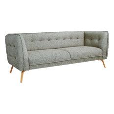 Habitat   Como 3 Sitzer Sofa Aus Stoff, Graublau   Sofas