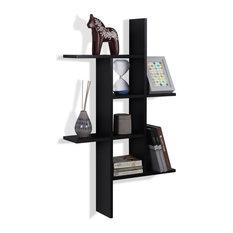 Danya B. Cantilever Wall Shelf, Black