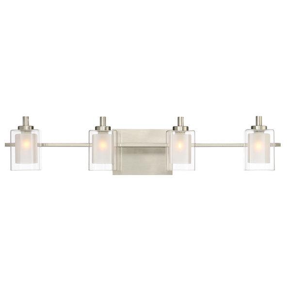 Kolt 4 Light Bathroom Vanity Light in Brushed Nickel