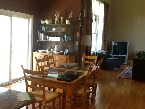 Need help with kitchen! A lot of wood colors in this kitchen, too much.