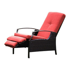 naturefun wicker recliner rocker chair outdoor lounge chairs