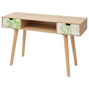 vidaXL Printed Console Table, 120x40x78 cm, Brown