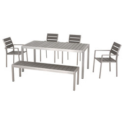 Contemporary Outdoor Dining Sets by GDFStudio