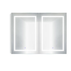 """48""""x36"""" LED Medicine Cabinet With Dimmer/Defogger, Makeup Mirror, and USB"""