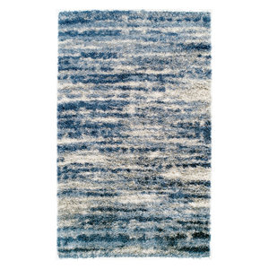 Addison Wellington Distressed Damask Area Rug