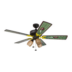 "48"" Touchdown Matte Black Indoor Ceiling Fan with 3-Light Kit"