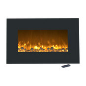 "36"" Electric Color-Changing Fireplace with Wall Mount & Floor Stand by Northwest"