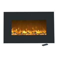 """Northwest - 36"""" Electric Color-Changing Fireplace with Wall Mount & Floor Stand by Northwest - Indoor Fireplaces"""
