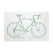 Bicycle Typogram #6 Limited-Edition Print