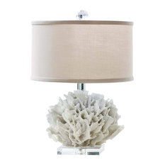 Ribbon Coral Mini Lamp, Natural Coral