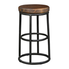 """Home Kendall Counter Stool, Gray by Kosas Home, 24"""""""