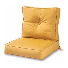 Outdoor 2-Piece Deep Seat Cushion Set in Sunbrella Fabric, Wheat