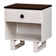 Bella Transitional Two-Tone Nightstand