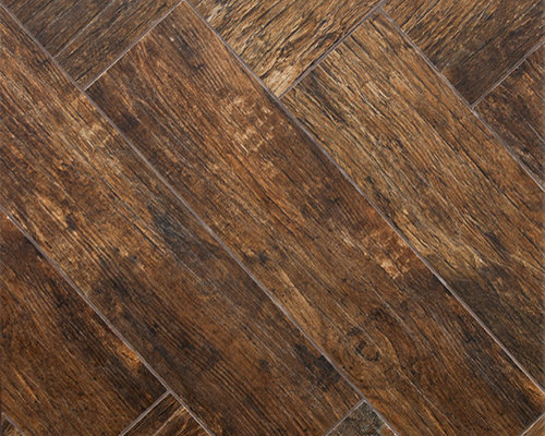Redwood Mahogany Wood Plank Porcelain - Wall And Floor Tile - Wood Plank Porcelain Tile