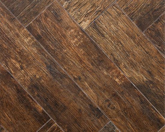 Redwood Mahogany Wood Plank Porcelain - Wall And Floor Tile - Wood Plank Porcelain Tile