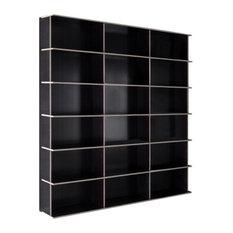 Fioroni Design JMB Resinated Concrete Plywood Modular Single Sided Bookshelf