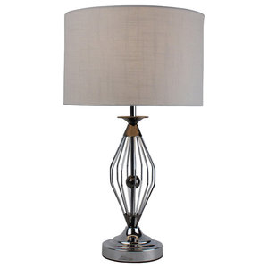 Warner Table Lamp, Black Chrome