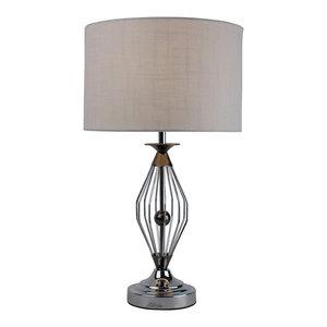 Warner Table Lamp, Black Chrome