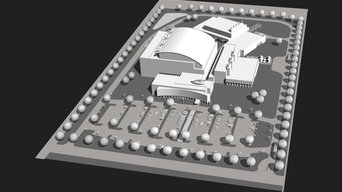 Site digital renderings for industrial development