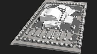 Site digital renderings for industrial development